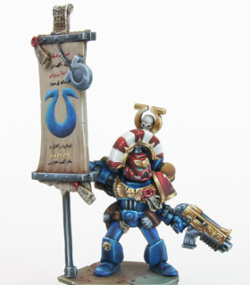 Ultramarines Standard Bearer Ultramarines Standard Bearer