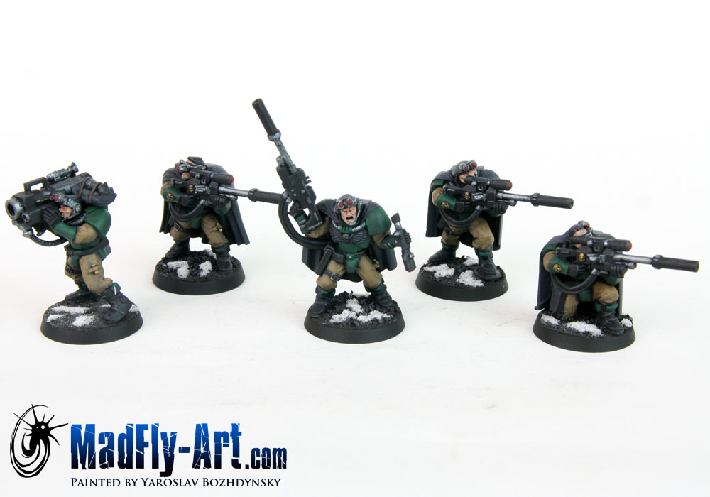 Dark Angels Scout Squad with Sniper Rifles