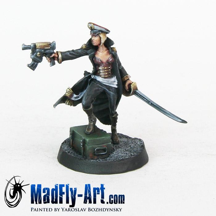 Female Commissar with Gun