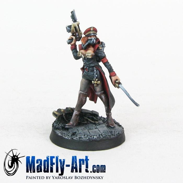Female Commissar with Laser Pistol