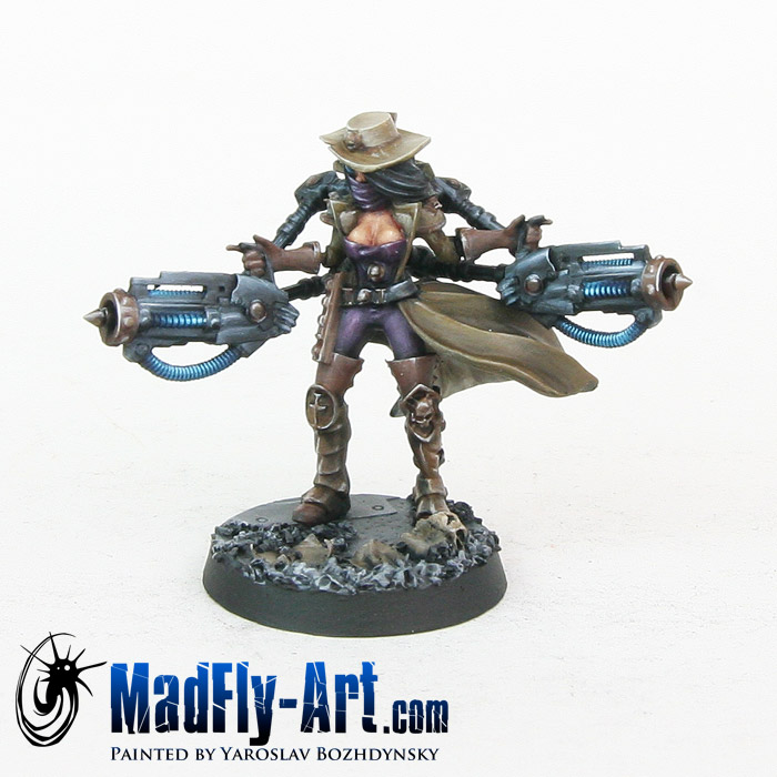 Female Inquisitor with Servo Heavy Beamers