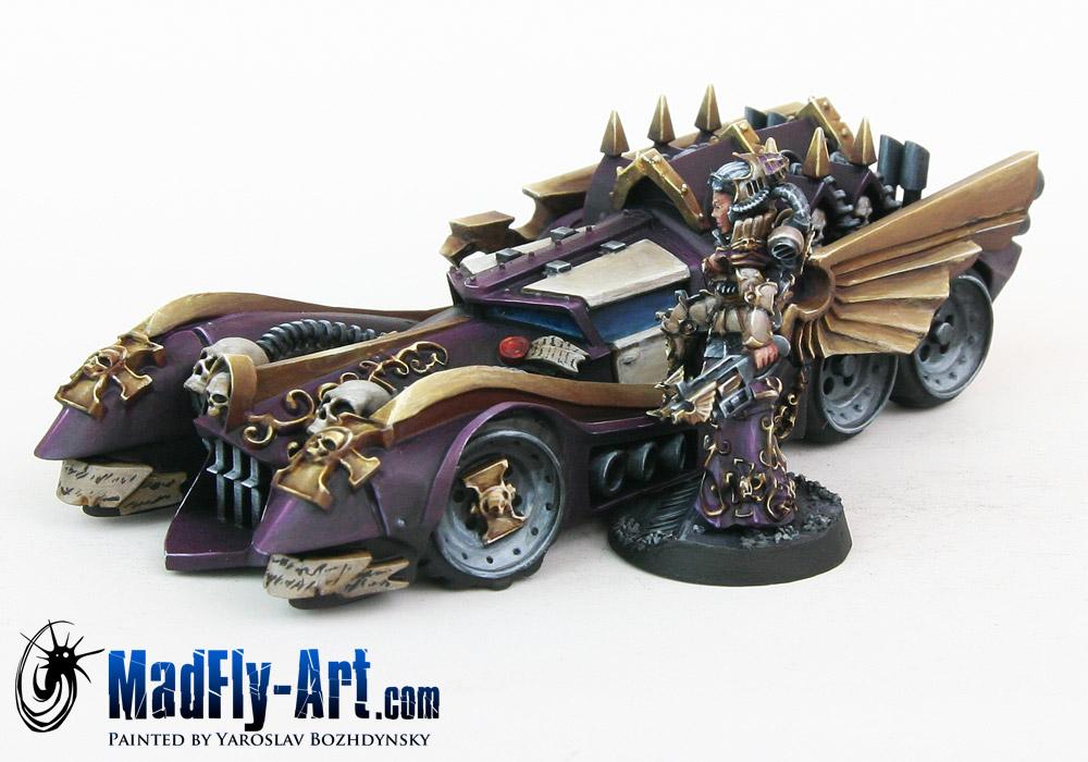 Female Inquisitor with Interceptor Car