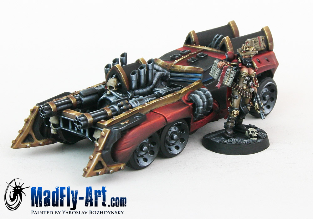 Female Inquisitor with Battle Car