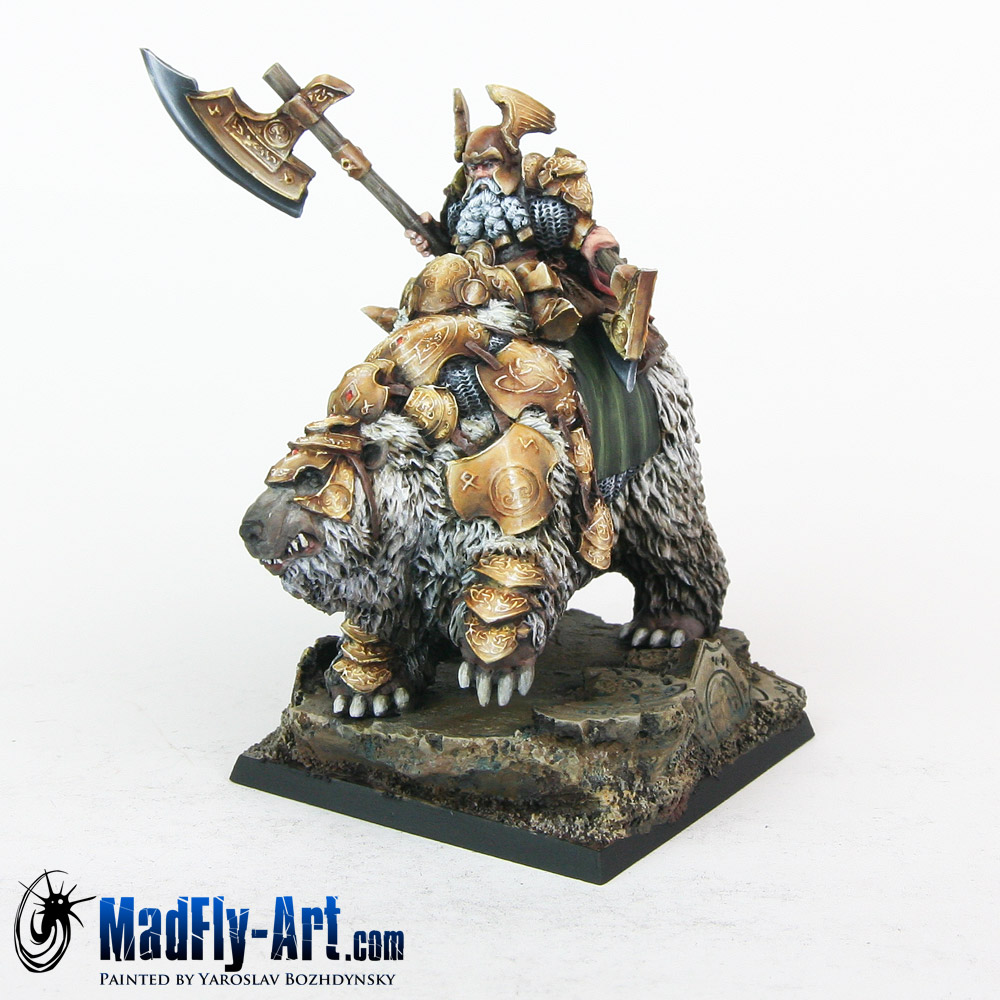 Dwarf General On War Bear