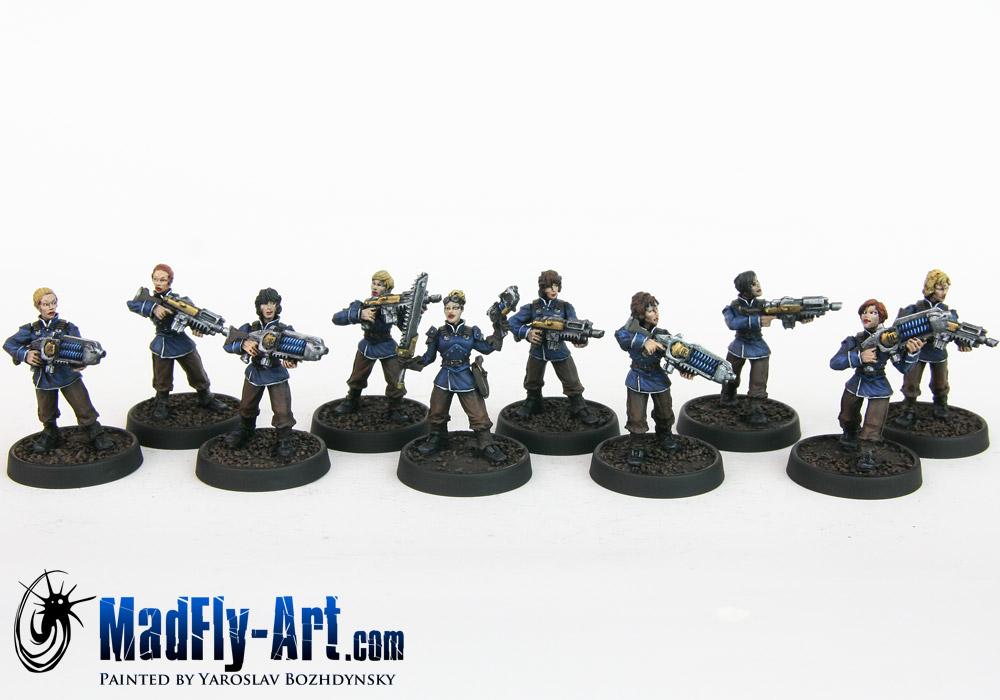 Arcadian Guard Female Squad