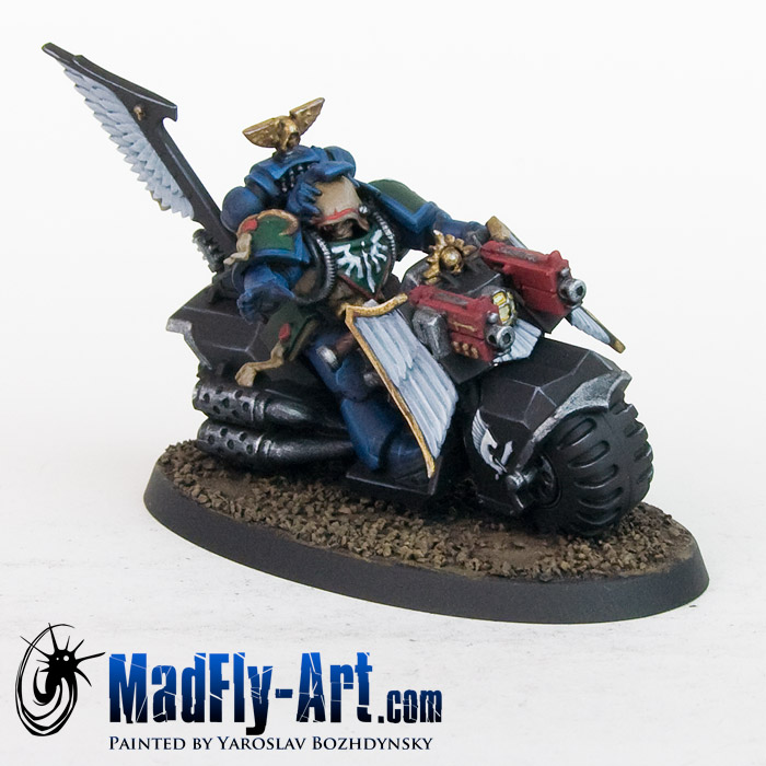 Dark Angels Librarian on bike