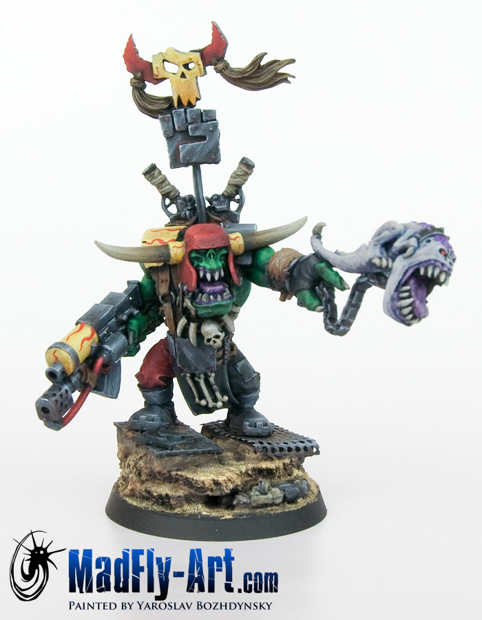 Ork Warboss with Attack Squig